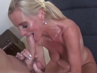 Deleterious Mature MILF with Fat Saggy Tits With Young Consumer