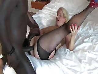 Busty Amateur Of age MILF Gets Waggish Anal Creampie By BBC