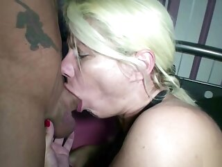 German Mature at Bottomless gulf Throat Fuck with an increment of Piercing Pussy wonted