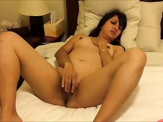 Sexy Punjabi Wife Lying In one's birthday suit