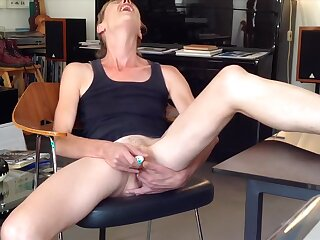 Akin to to whatever manner I fuck a dildo in amateur webcam video