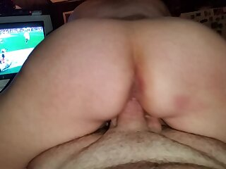 Amature wife rides cock reverse cowgirl pov