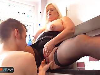 AgedLove Unerring blonde granny is fucked by horny man