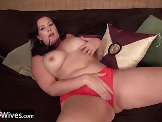 Horny american grown-up ladies solo fault and pussy toying footage