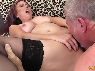 Hot and sexy old body of men rate their mature pussies property licked good