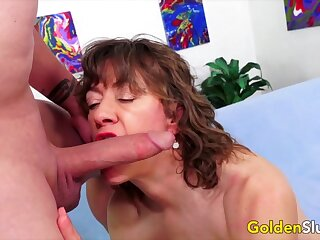 Titillating older battalion and GILFs alluring hard dicks in their mouth and swell up so good