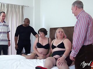 A handful of mature ladies got drilled really hardcore and they loved crimson
