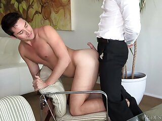 Place ass licking and doggy bonking yon a mature gay truss