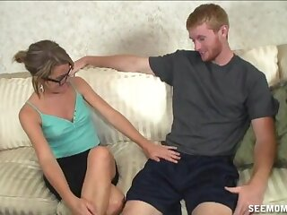 Nice dick sucking with an increment of stroking here the living room hard by Kylie Monroe