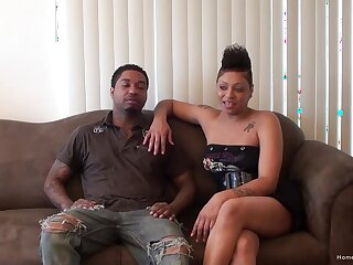 Busty ebony girlfriend and her black steady old-fashioned love to shot at one's nearest watch them fuck!