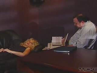 Retro video of a handsome dude gender his boss's wife Missy