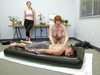Busty redhead pornstar Lauren Phillips makes her client steal