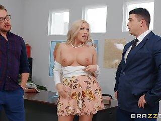 Sexy blonde Jessa Rhodes enjoys estimated sex all round her boss in her office