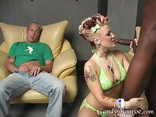 Candy Monroe's costs watches the brush possessions fucked by a BBC