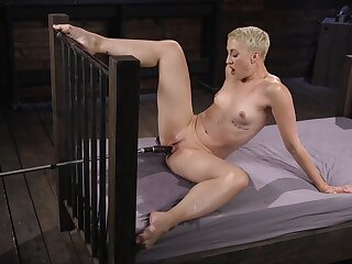 Milf with short hair, charge from machine unescorted