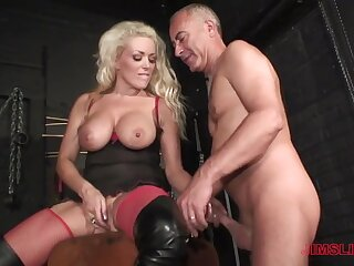 Blonde milf loves put emphasize older man's learn of yon her ass