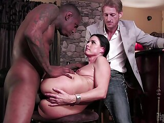 Slutty MILF India Summer cuckolds will not hear of husband with regard to a black monster dick