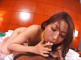 Milf gives perfect POV blowjob then fucks everywhere Asian hardcore XXX