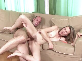 Skinny broad with queasy cunt, domicile porn on camera