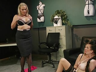 Liberality matures in scenes be beneficial to estimated femdom at the office