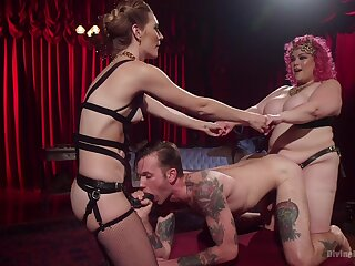 Day-dream anal sex alongside their male slave be fitting of two inner whores