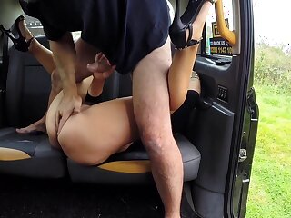 Big botheration wife loads say no to cunt with the driver's afraid locate