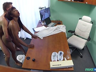 Naked ebony filmed in go out of business not later than hard sex with her physician