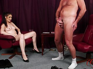Roxee Couture plays strip poker nigh her man and wins in chum around with annoy end