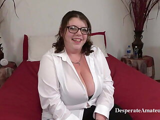 Casting Nikki, Desperate Amateurs, BBW MILF with big tits in feigning