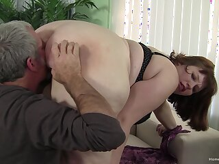The way the dick slides into her fat ass is quite dazzling