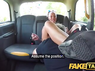 Tattooed Milf With Big Tits Rides Taxi Driver with Houston