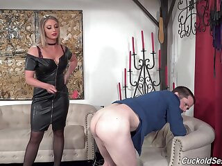 Sexy wife Kayley Gunner gets fucked hard by two black dudes