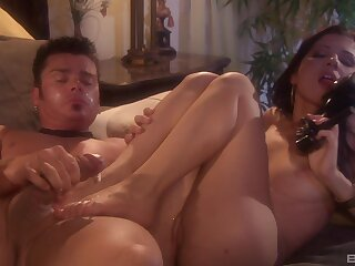Smooth late night fucking with flexible brunette Rebecca Linares