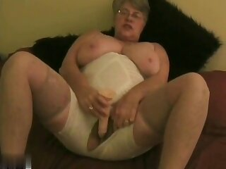 Girdle Goddess Masturbating In Crotchless Girdle