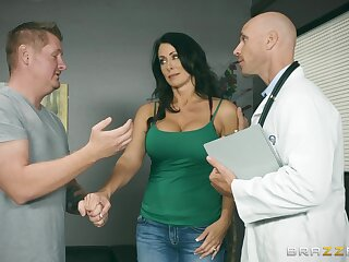 Insolent MILF lets her physician to stick it in her ass