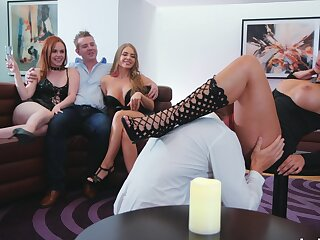 Sweet ass babes are keen for this insolent cam orgy