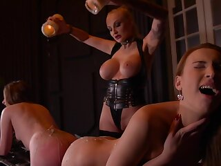Kayla Green & Liona Levi & Killer-diller from Manila Love nearly Smoking Hot: Lesbian Teens Ass Fucked By Busty Dominatrix - KINK