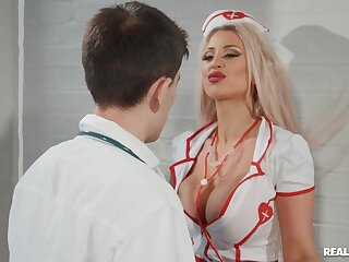 Hardcore fucking between a doctor and naughty attend to Brooklyn X-rated