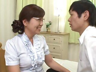 Japanese mature pleases her nephew with complying sex