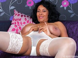 Video of busty wife Danica Collins pleasuring her wet pussy