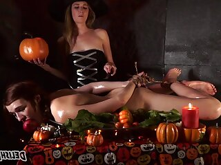 The Curse - Yoke witches in good-luck piece lesbian femdom with bondage