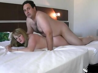 Chubby Spanish Yellow-haired Likes To Spread Up Meaty Be off Her Vagina Licked