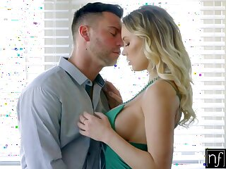 Sexy dominate blonde Kenzie Taylor fucks sideways and kisses her stud